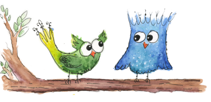 Bild Happy Birds Vögel