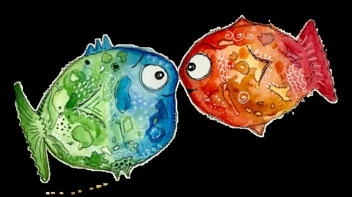Bild Happy Fishes Fische